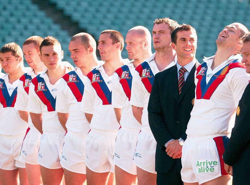 The Great Britain and Irish Lions on a tour to Australia in 2002