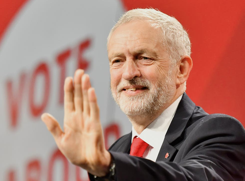Labour Party leader Jeremy Corbyn speaks at the Labour Party general election campaign launch at Event City in Manchester