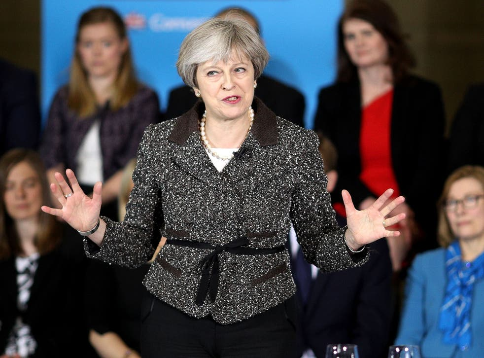 Ms May will say the manifesto will include 'the greatest expansion in workers' rights by any Conservative government in history'