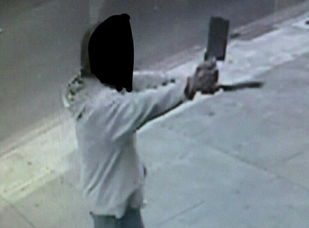 A man brandishing a knife and a meat cleaver attempted to attack two kosher delis