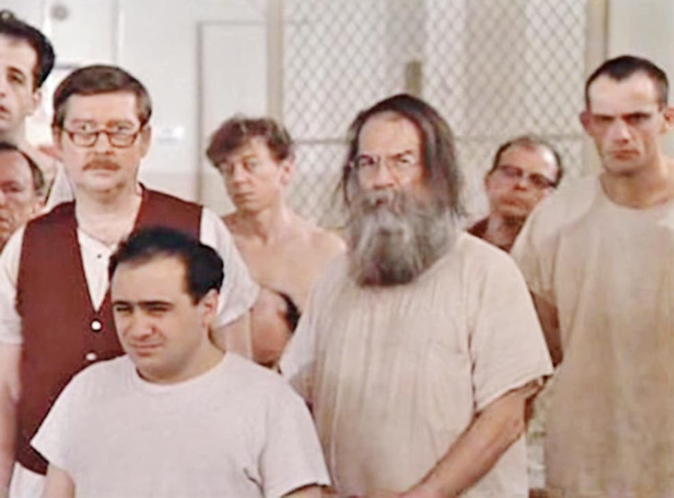 Danny DeVito (front left) and Christopher Lloyd (far right) in 'One Flew Over the Cuckoo's Nest'