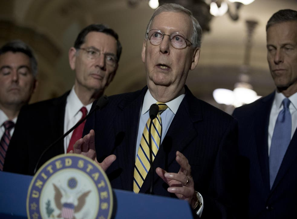 Senator Majority Leader Mitch McConnell has resisted calls for a special prosecutor into Russia meddling in the US election