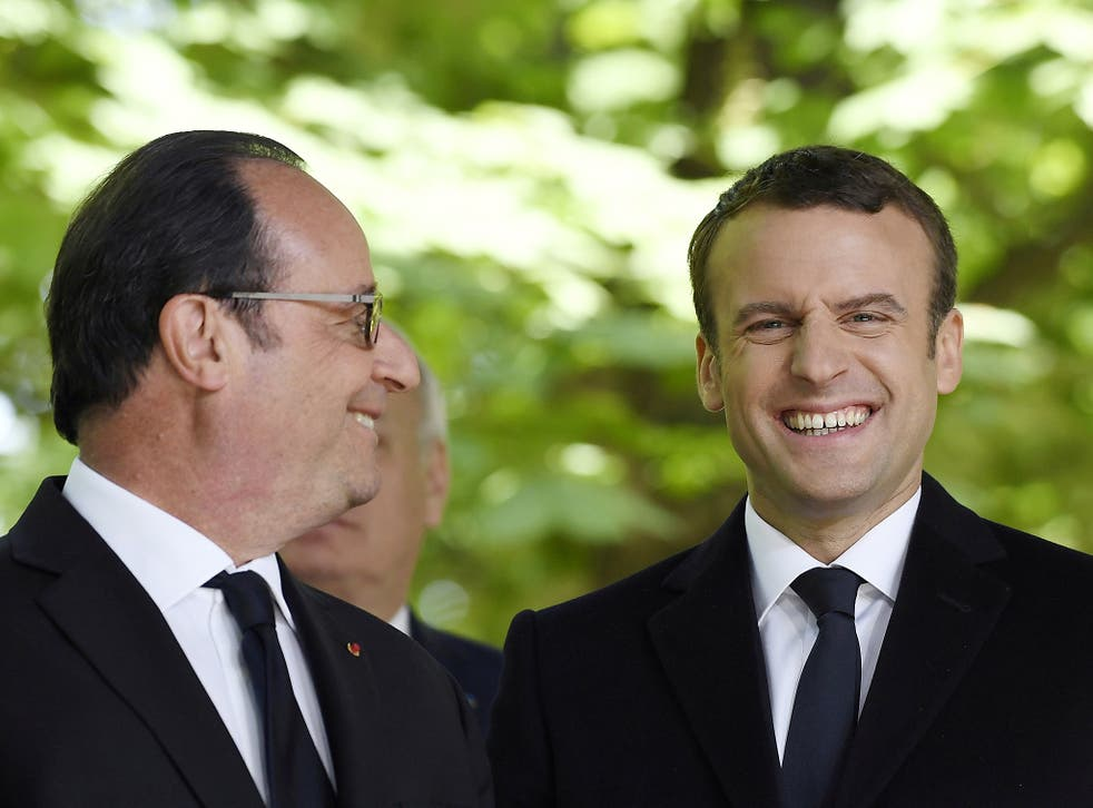 All smiles: the hack of Emmanuel Macron's campaign turned out to be an anticlimax