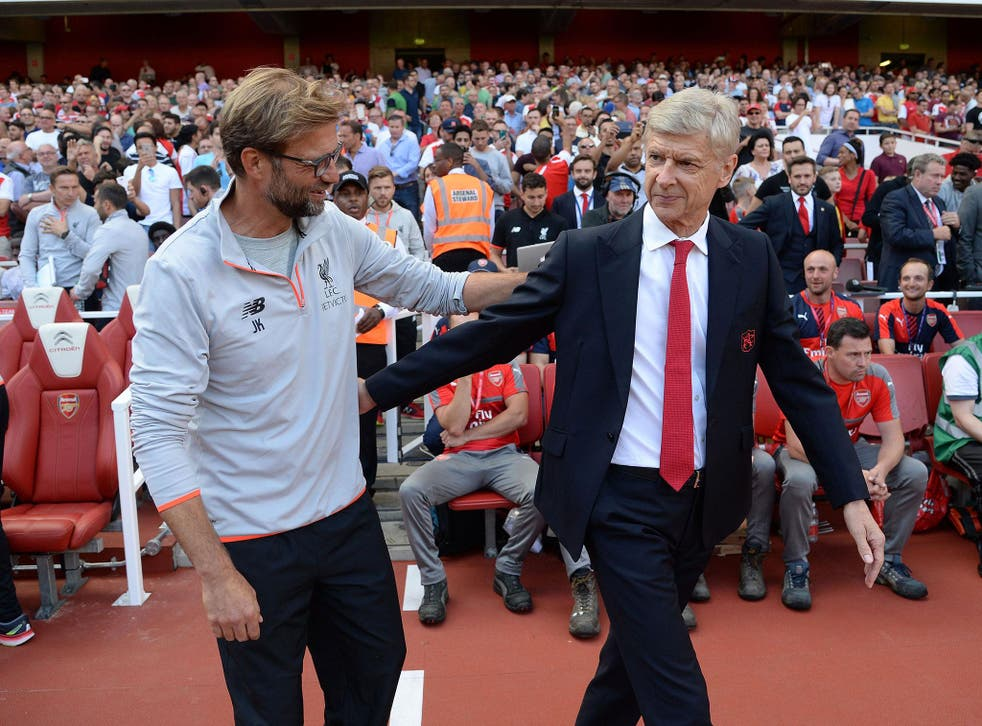Jurgen Klopp and Arsene Wenger could see their sides face-off in a top four play-off