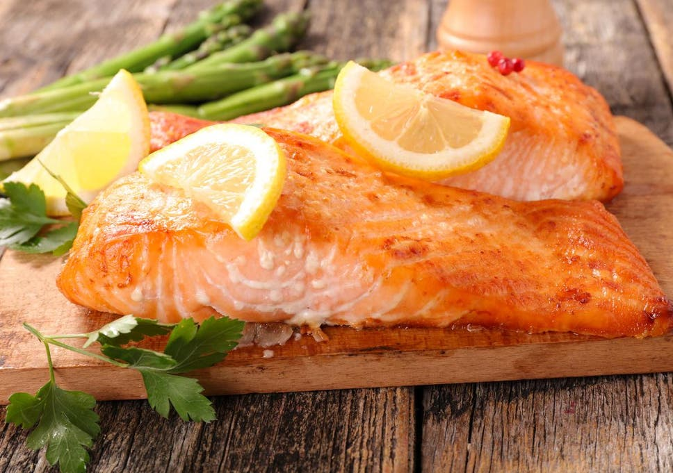 what is the white stuff that comes out of cooked salmon the