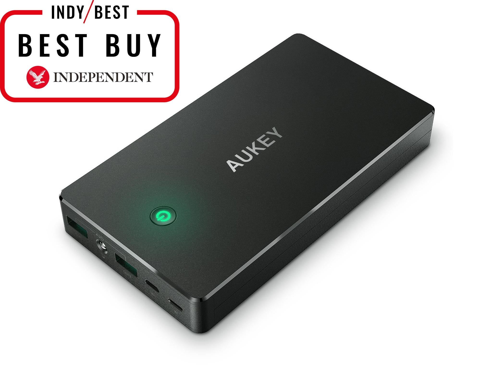 10 Best Portable Chargers The Independent Powerbank Fan 2 In 1 Aukey Power Bank 20000mah Charger With Lightning 1999 Amazon
