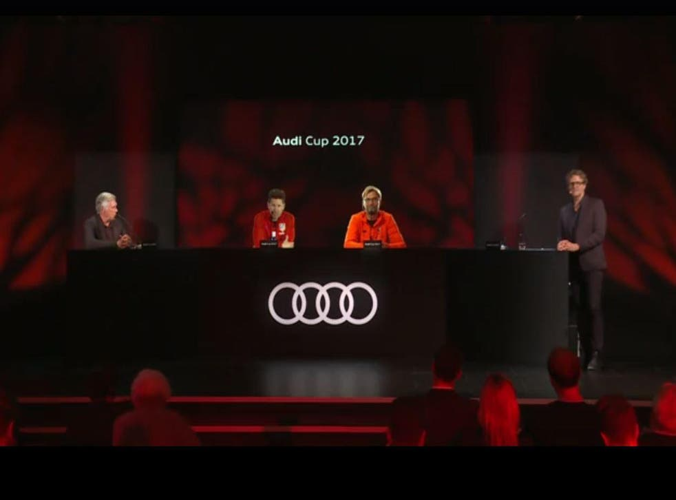 Jurgen Klopp and Diego Simeone joined Carlo Ancelotti as holograms