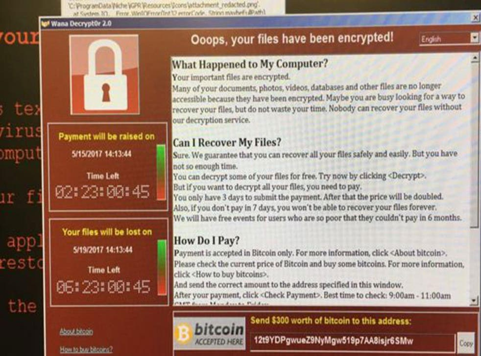 Screenshots shared online purportedly from NHS staff, show a program demanding $300 (£230) in Bitcoin