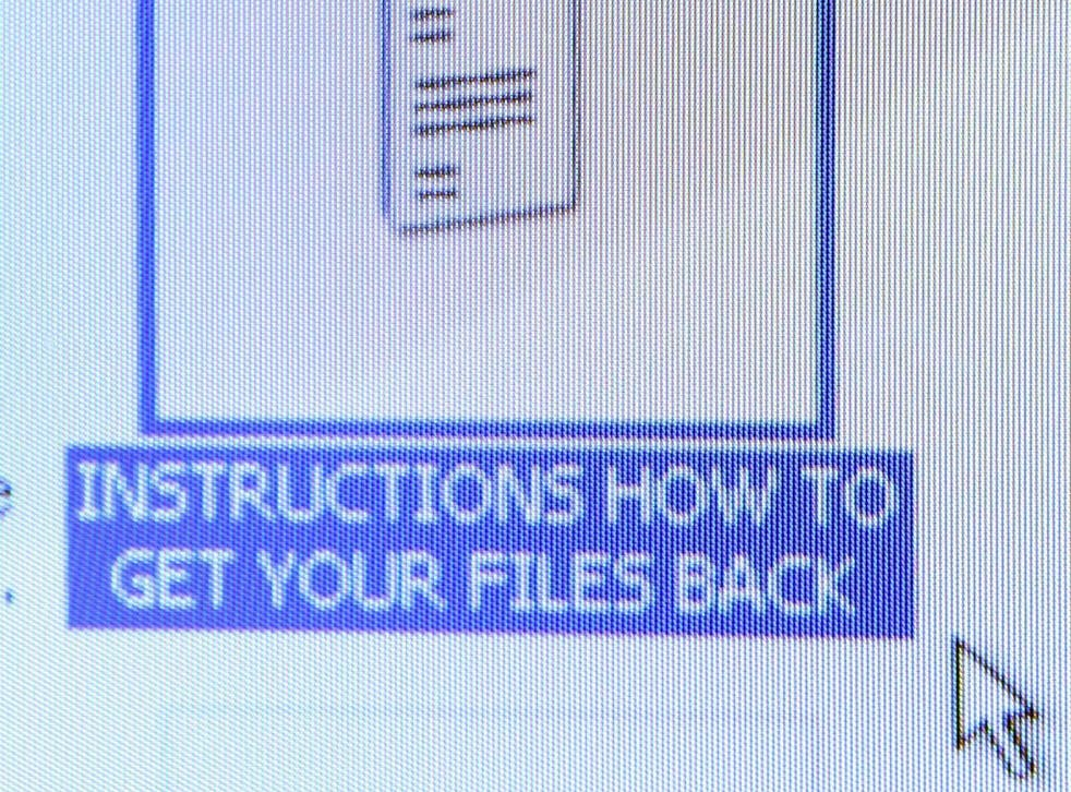 The instruction file that Nurse Helen Barrow, of Littleborough, Lancashire, found on her desktop after becoming the first known UK victim