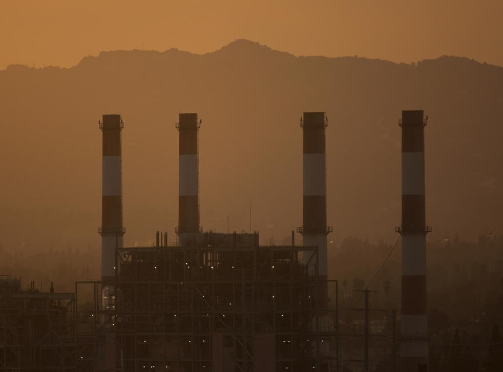 Valley Generating Station in Sun Valley, California. According to scientists, carbon dioxide levels in the US reached a new high in 2016.