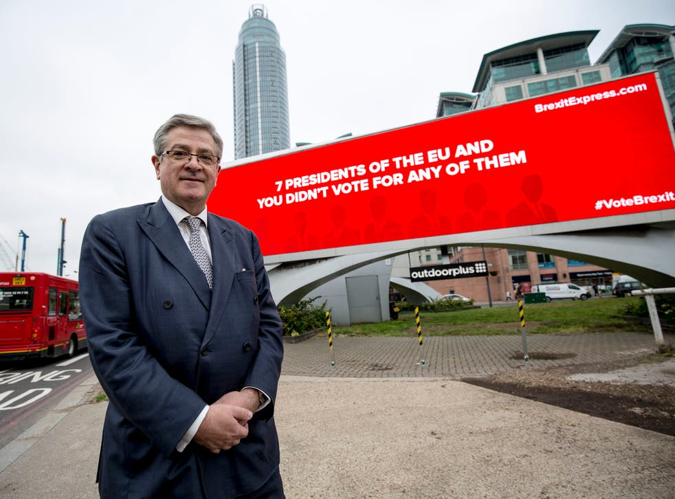 The city asset manager donated more than £1.5m to Vote Leave and launched a Brexit poster campaign ahead of last June's EU referendum