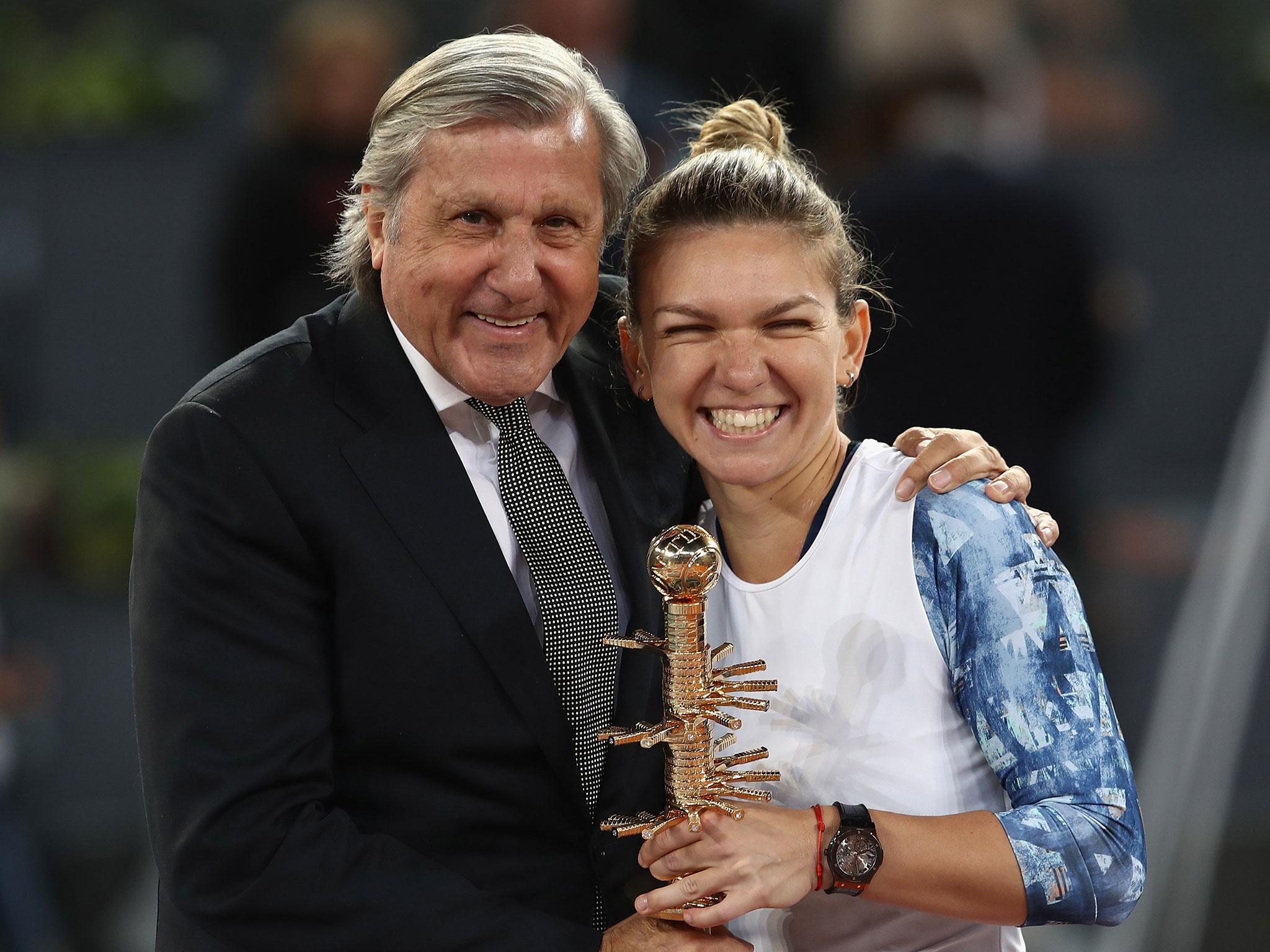 Ilie Nastase s appearance on court at Madrid Open final cast a