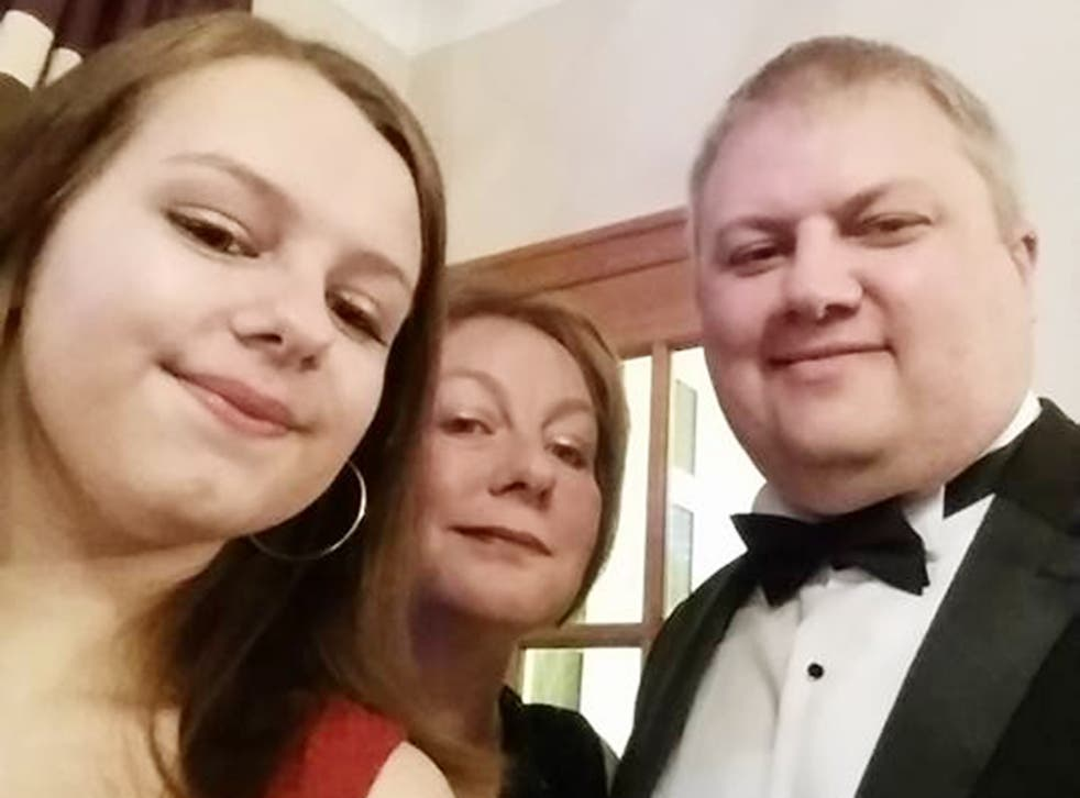 Bethany Fitton (left) with her parents, Estelle and Richard. Her father said losing his daughter to suicide was 'the last thing I ever expected to happen'