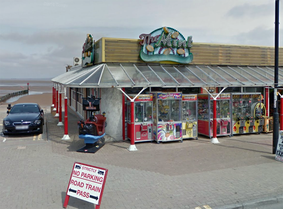 The mother said the incident took place at The Mint Arcade in Cleethorpes, Lincolnshire