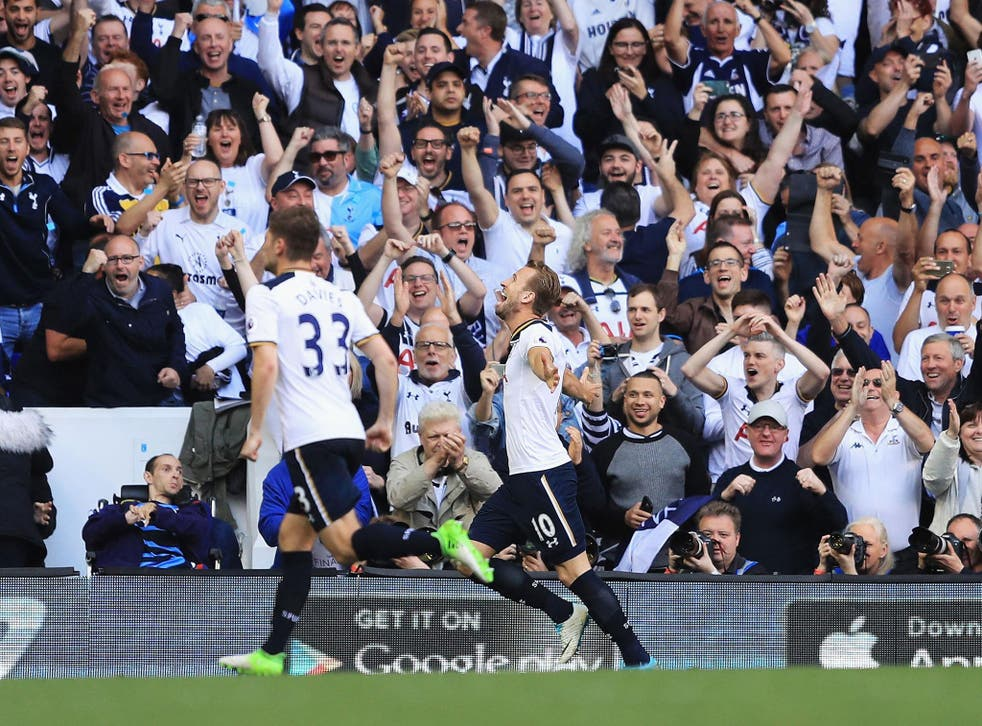 Kane scored the last-ever Spurs goal at the Lane(Getty)