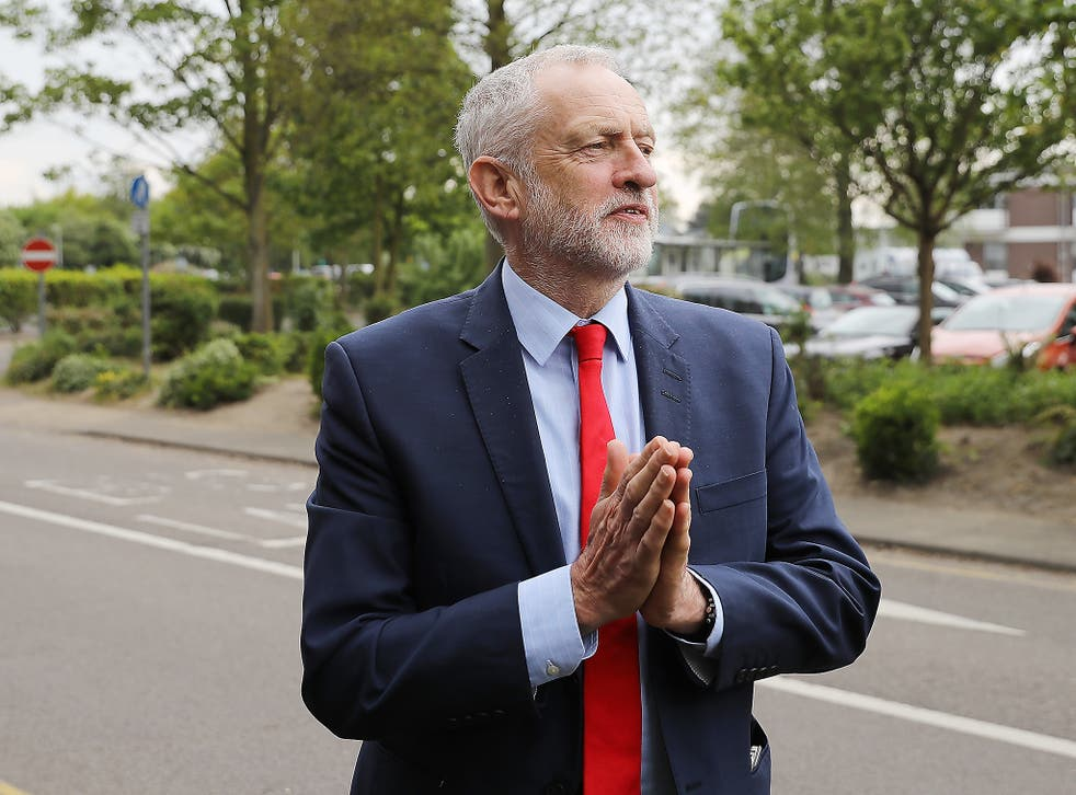 Jeremy Corbyn on the Labour campaign bus at a campaign event in Lowestoft on Saturday