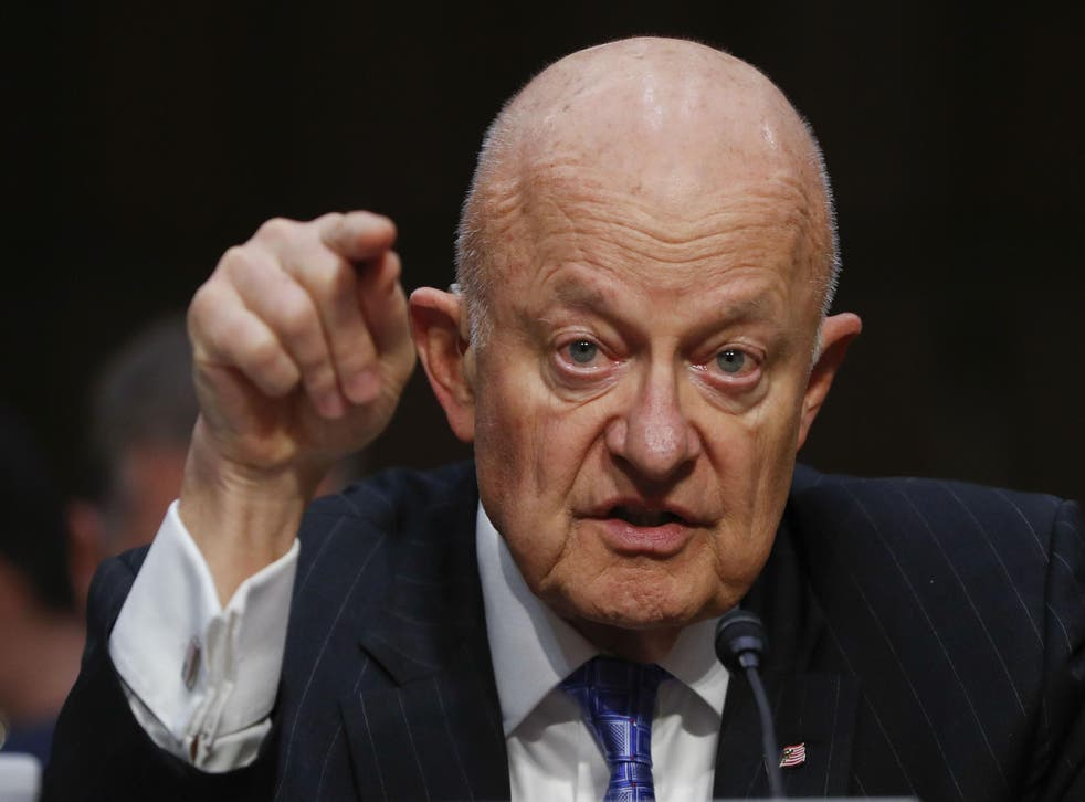 Mr Clapper appeared on Capitol Hill earlier this month