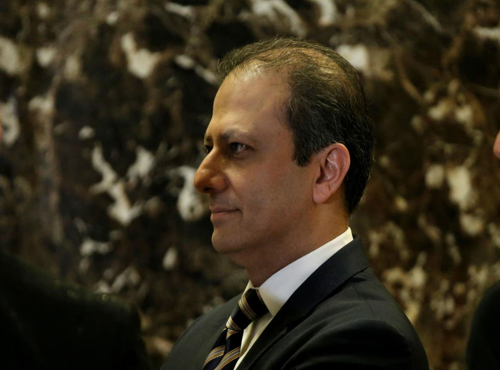 It was originally believed Mr Trump would ask Mr Bharara to stay on