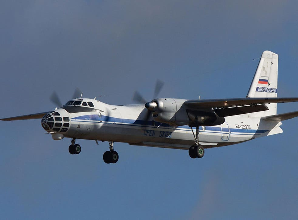 RAF personnel will be on board the Russian Antonov An-30B as it conducts its flights