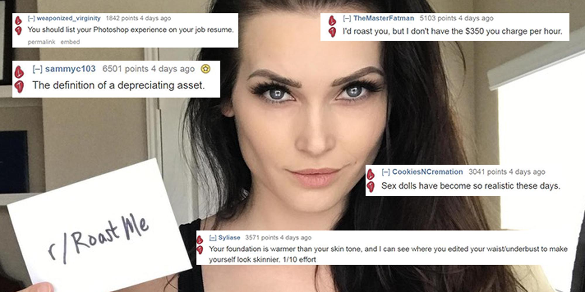 An Instagram star asked to be roasted on Reddit and then deleted her