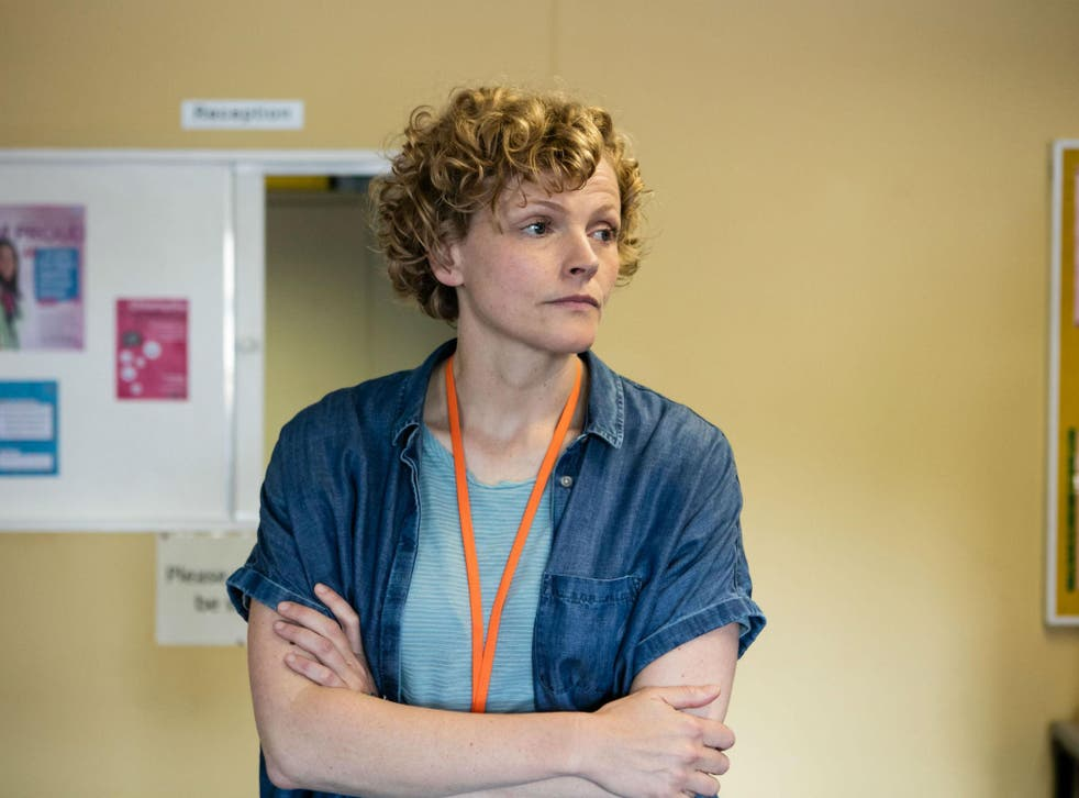 Maxine Peake plays Sara Rowbotham, a real-life sexual health worker in Rochdale in BBC1's 'Three Girls'