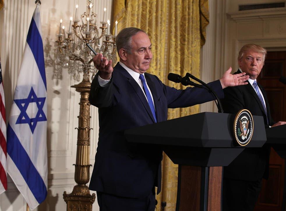 President Donald Trump and Israel's Prime Minister Benjamin Netanyahu