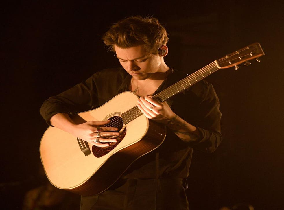 Harry Styles performs material from his debut solo album