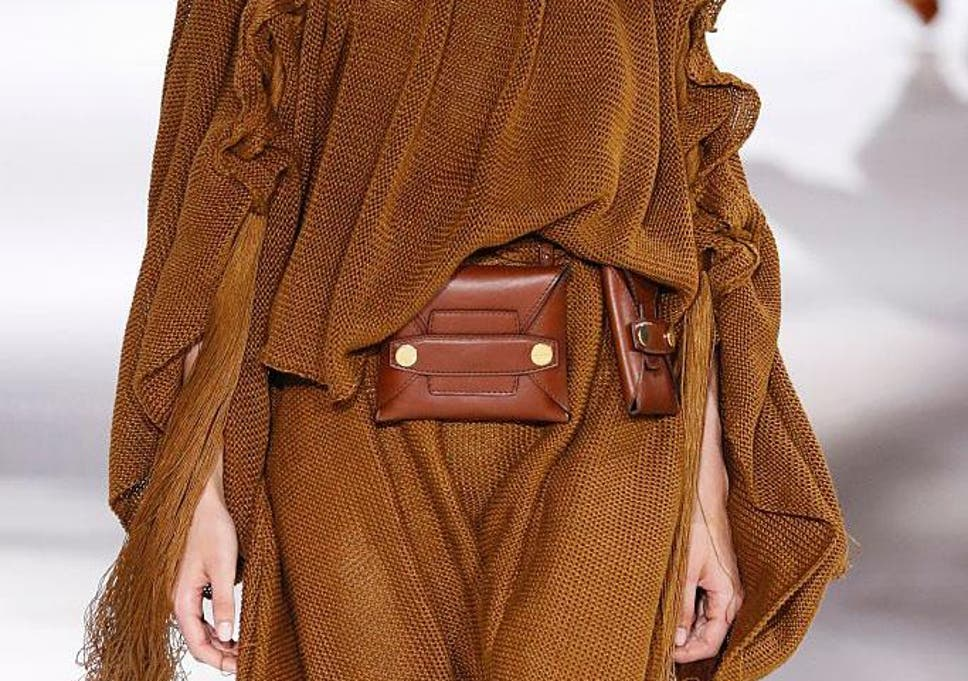 4de399581d7 At Stella McCartney there were  Alter Leather  belt bags in earthy shades  of tan