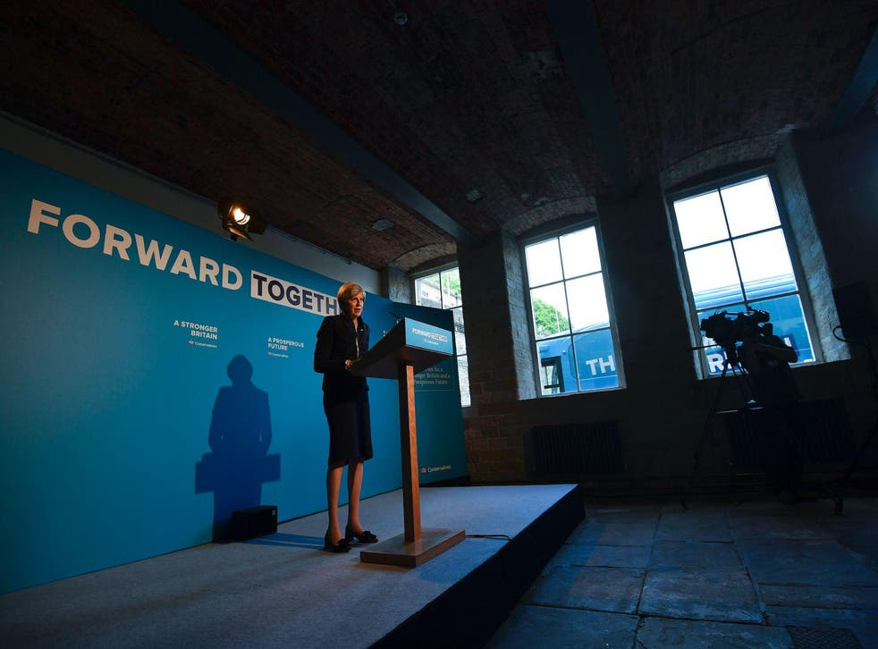 The PM reeled off some familiar soundbites at the Conservative manifesto launch this morning