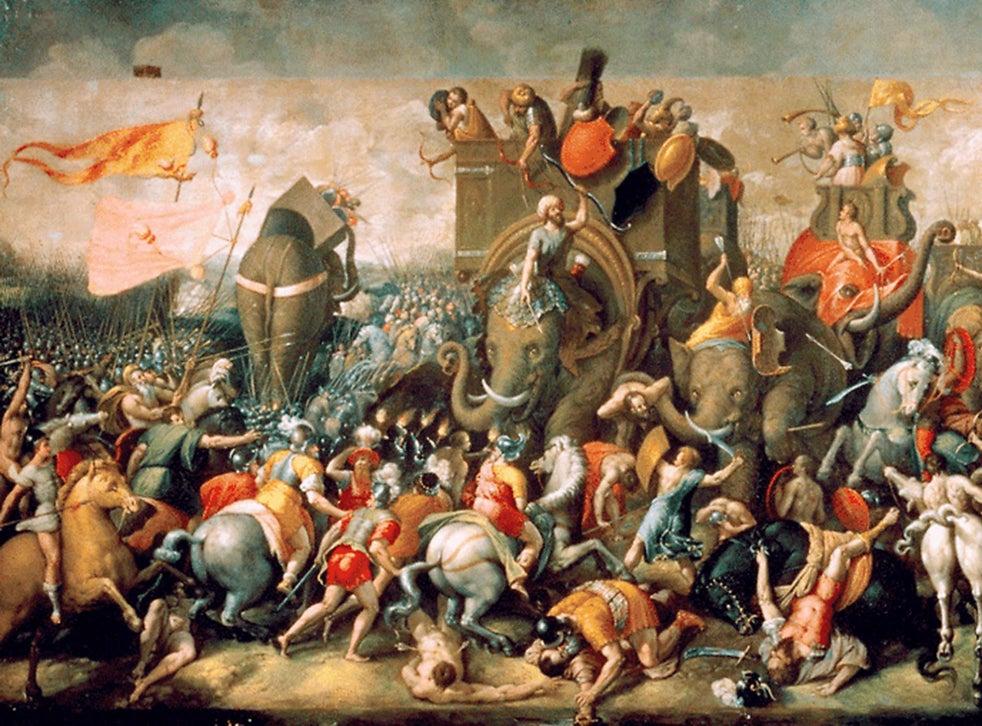 Battle of Zama in Second Punic War, Giulio Romano 1521.