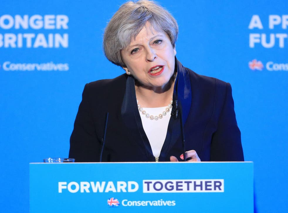 Theresa May delivered her manifesto speech, which turns its back on traditional older voters