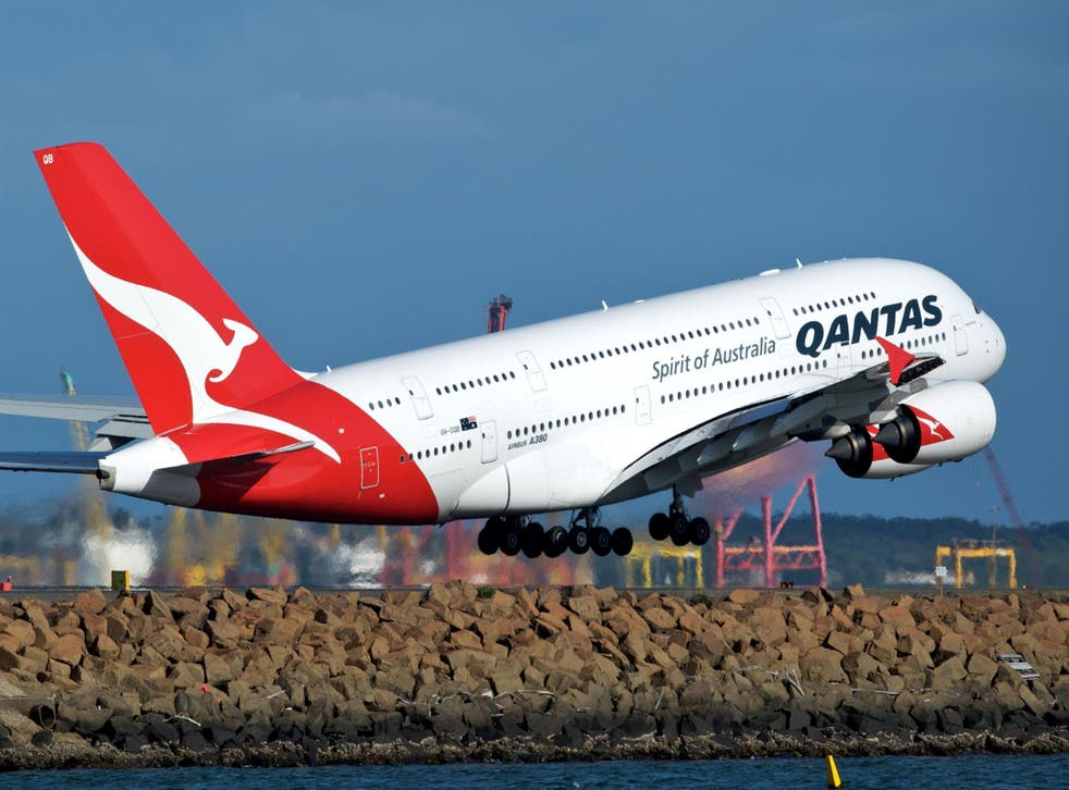 The QF2133 flight had to turn back to Canberra (Wikipedia)