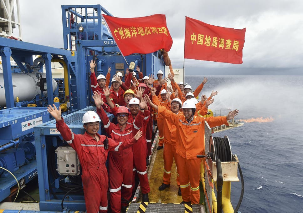 Japan and China successfully extract 'combustible ice' from