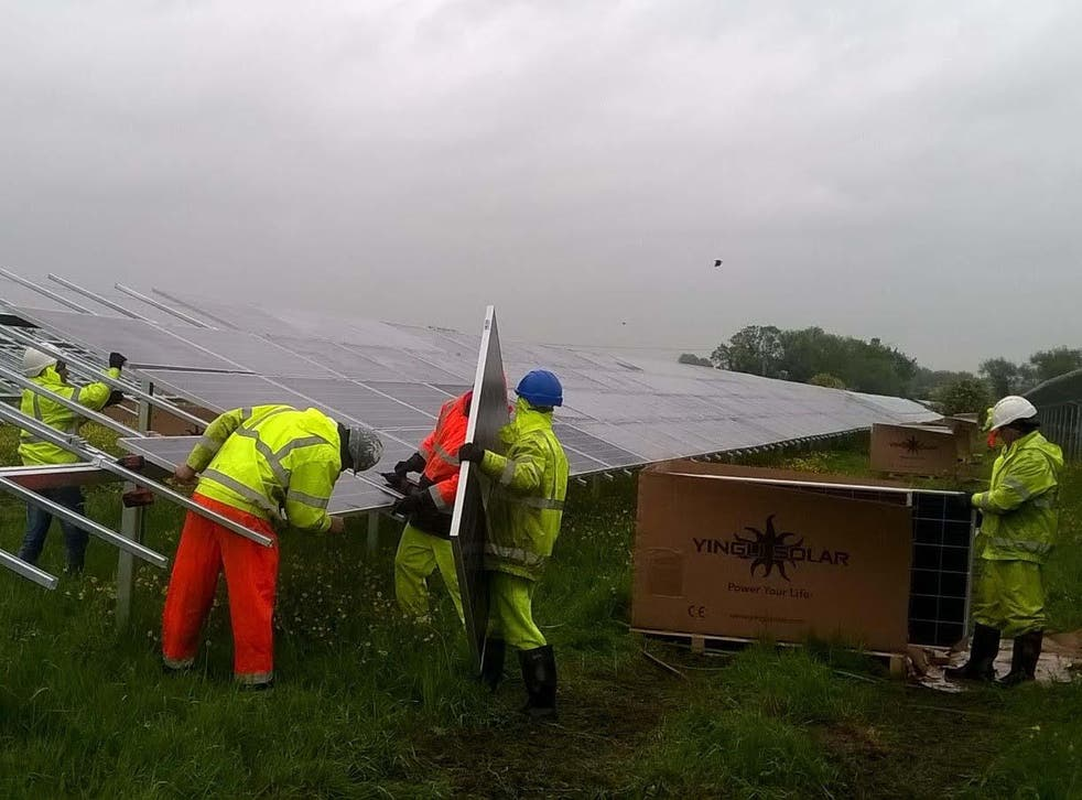 The two Swindon solar farms now generate enough electricity to supply the equivalent of 1,200 homes