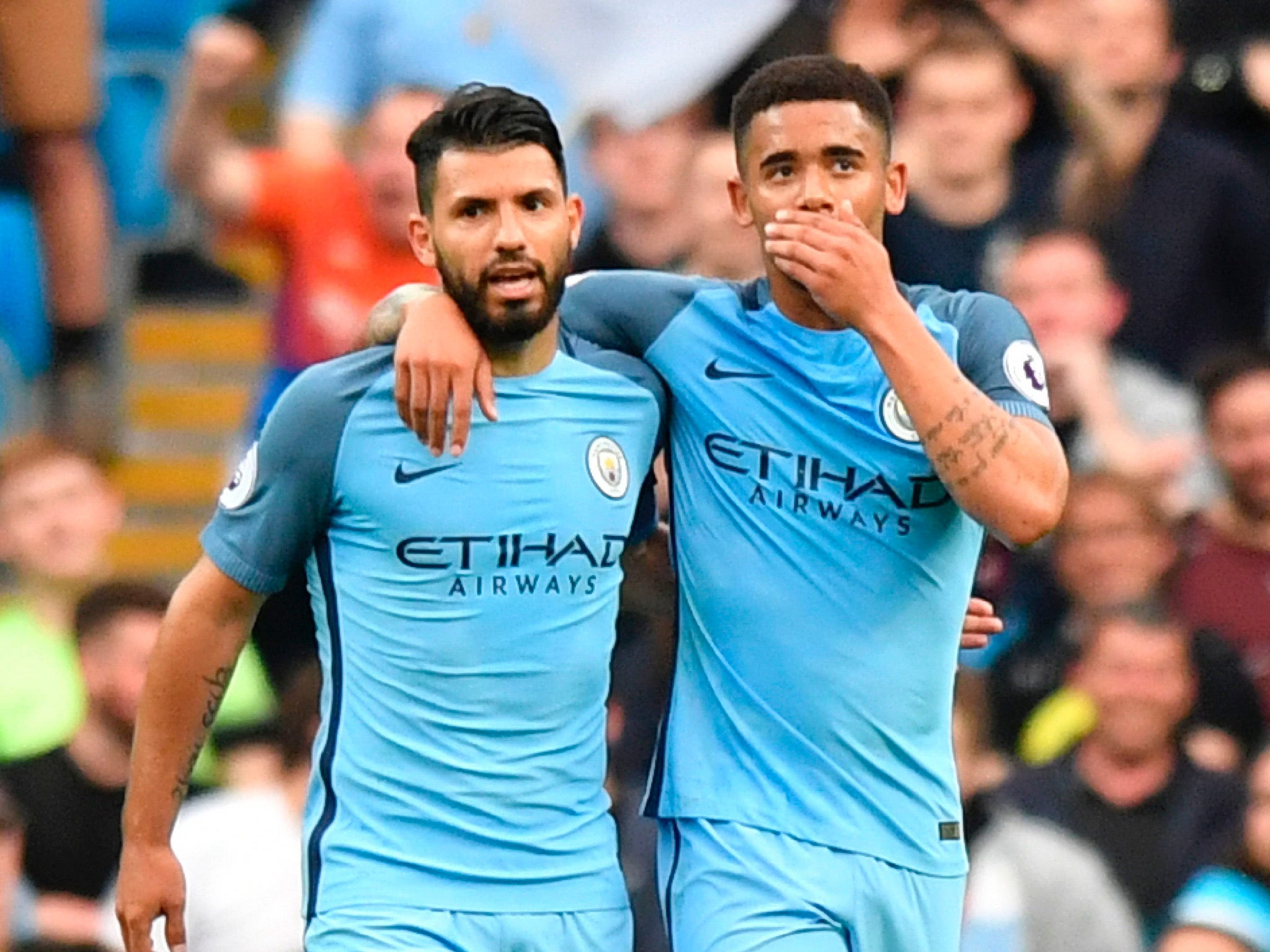 Manchester City pair Sergio Aguero and Gabriel Jesus can play together, insists Pep Guardiola