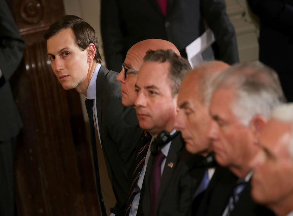 Mr Kushner is accompanying Mr Trump on his first official foreign visit