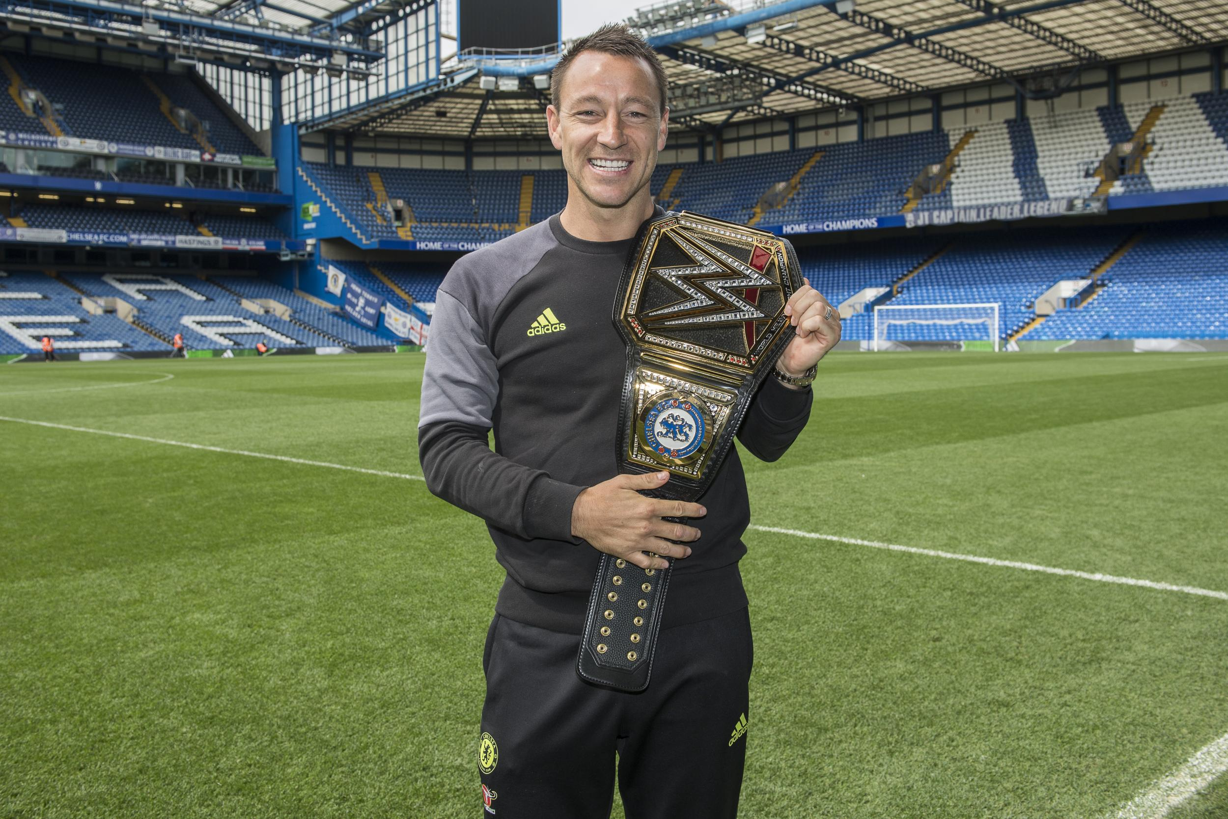 Wwe Present Chelsea Captain John Terry With An Honorary