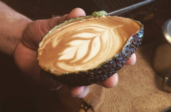 Avolatte Hipster Caf 233 S Serve Lattes In Avocados The