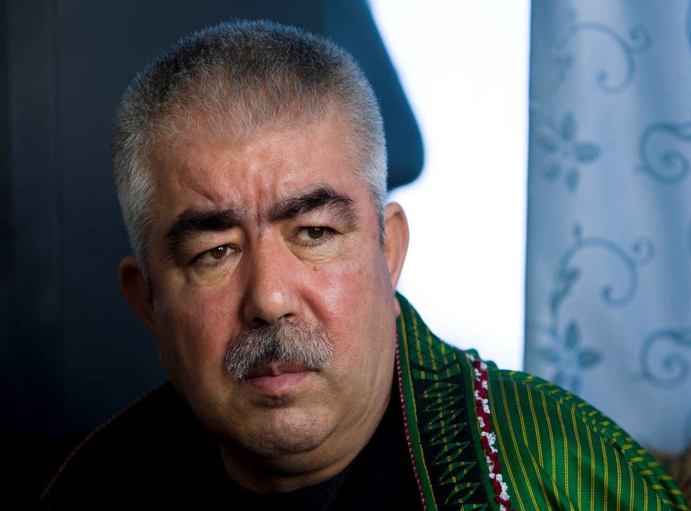 Afghanistan's vice president Abdul Rashid Dostum is one of the three members of the new coalition