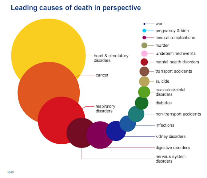 the things most likely to kill you in one infographic the independent
