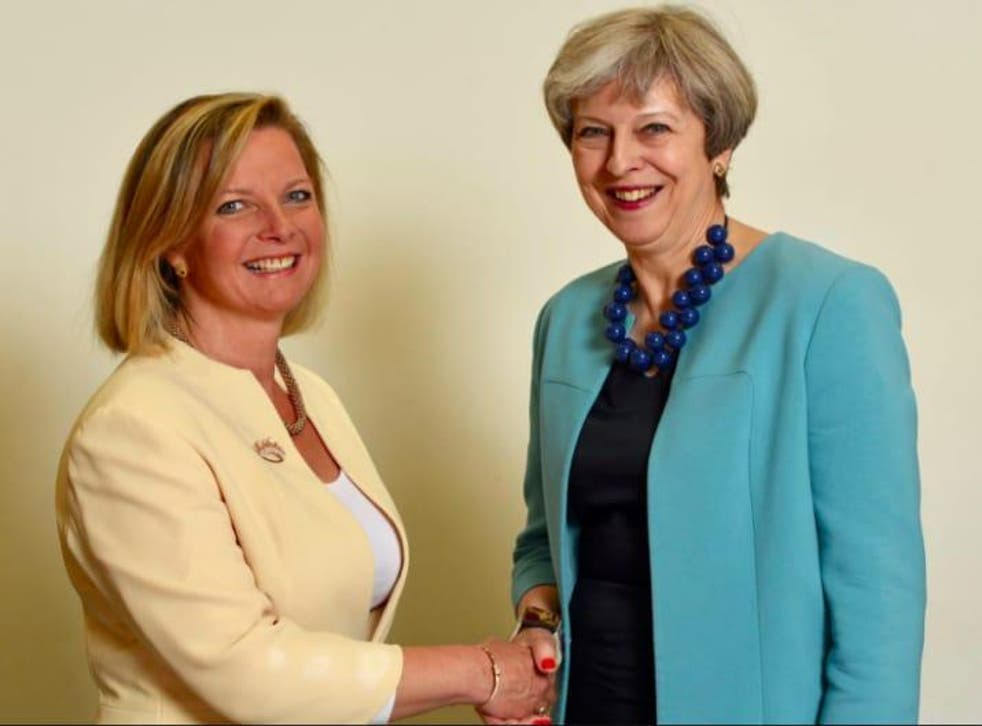 Kirsty Adams pictured with Prime Minister Theresa May