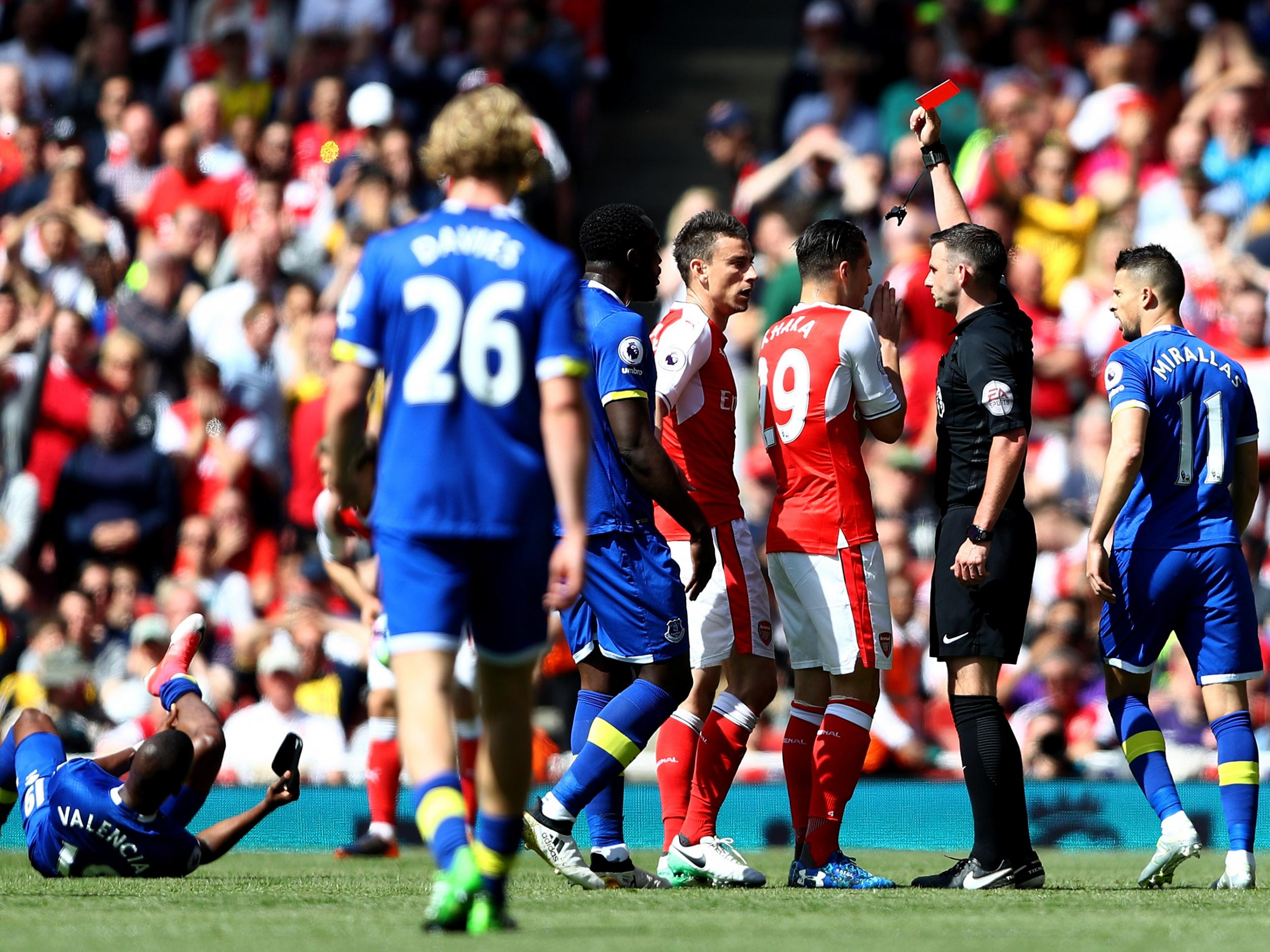 Arsenal facing injury crisis for FA Cup final as Arsene Wenger claims Laurent Koscielny red card was 'harsh'