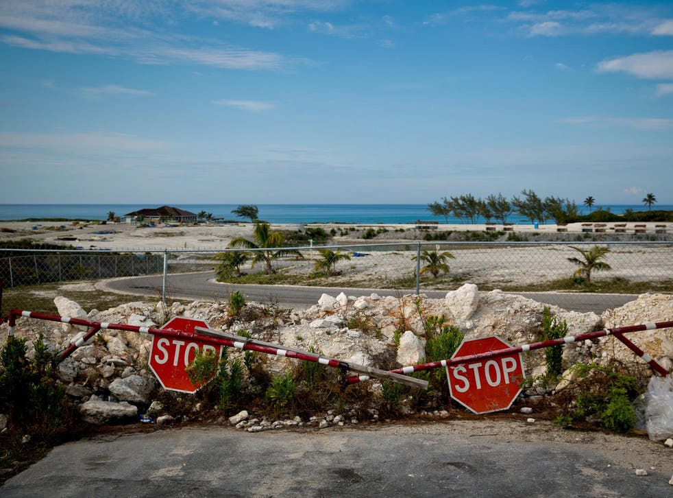 Trash and remnants of the failed Fyre Festival remain on the site in Great Exuma, the Bahamas
