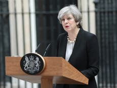 Theresa May calls suicide bombing 'warped and twisted'