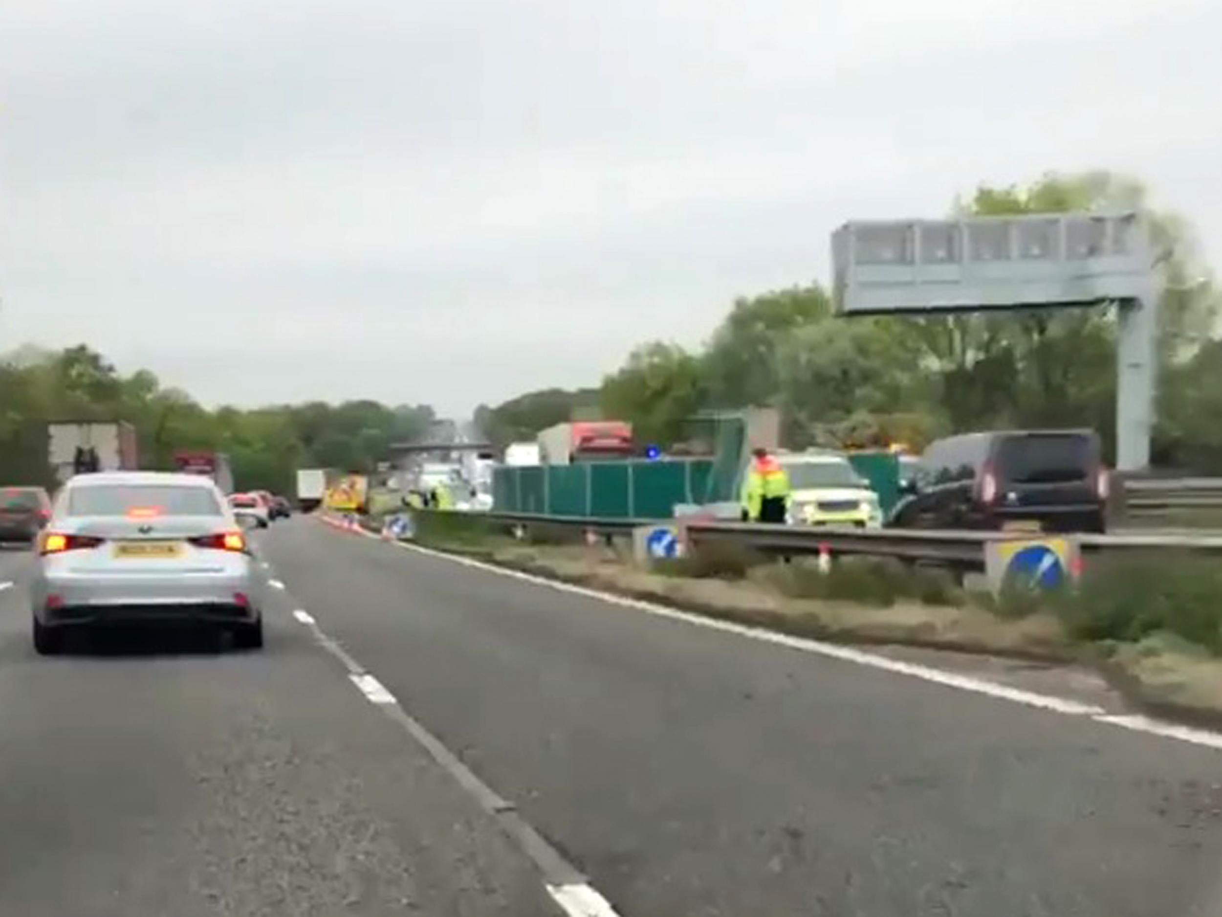 m6 crash: five people killed in motorway collision between car and