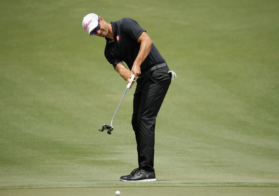 0a865c54c181 Adam Scott wears the FootJoy Pro/SL shoes (featured below) during the  Players