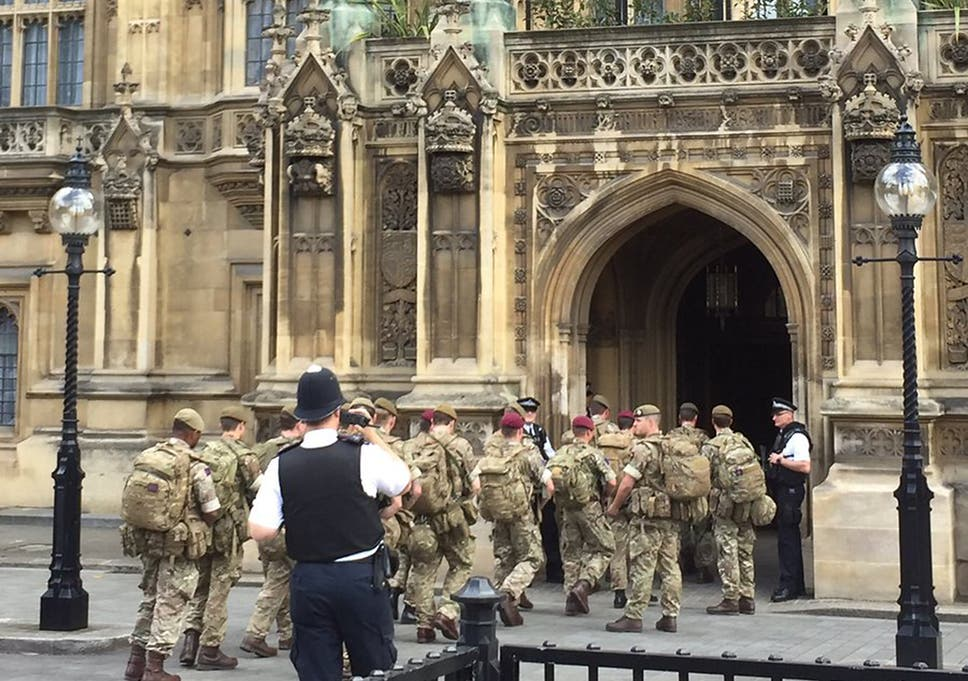 British Soldiers Sent Into Parliament After Theresa May Raises Uk