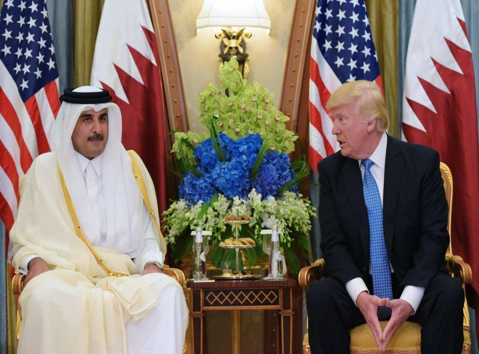 Qatari Emir Sheikh Tamim Bin Hamad al-Thani and Donald Trump met for the first time in Riyadh, but will the US come to Qatar's aid now?