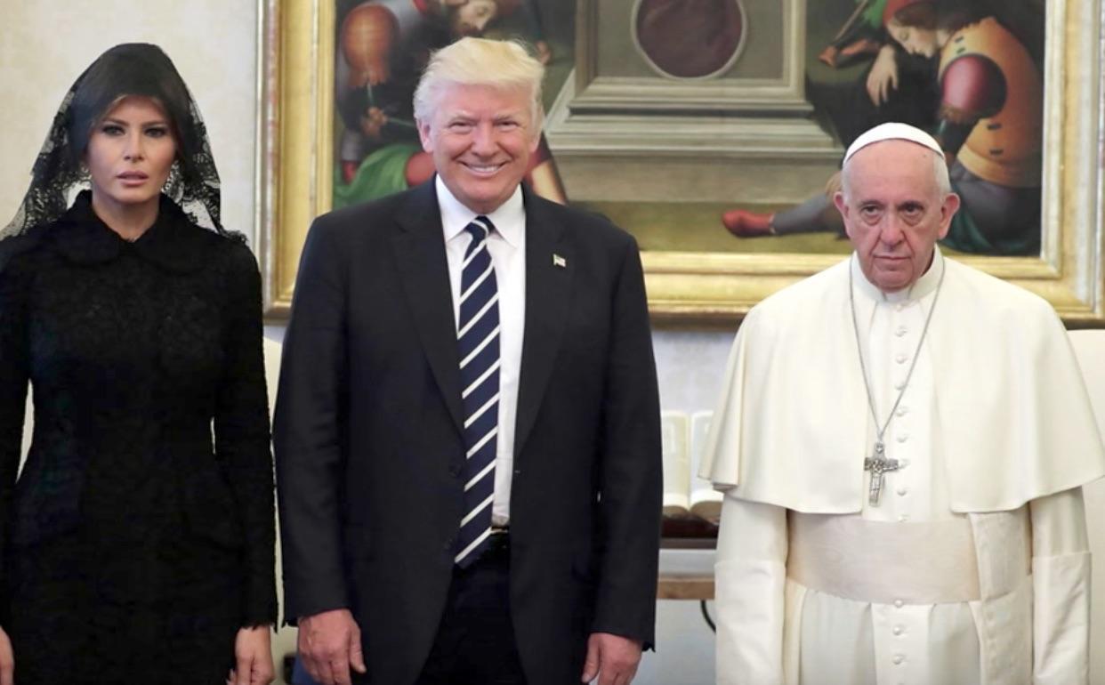 ¿Cuánto mide el Papa Francisco? - Altura - Pope Francis Real height Donald-trump-pope-francis-vatican