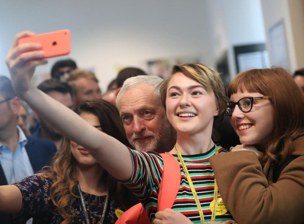 Labour leader Jeremy Corbyn is proving more adept at engaging with younger people in person and online, according to the findings